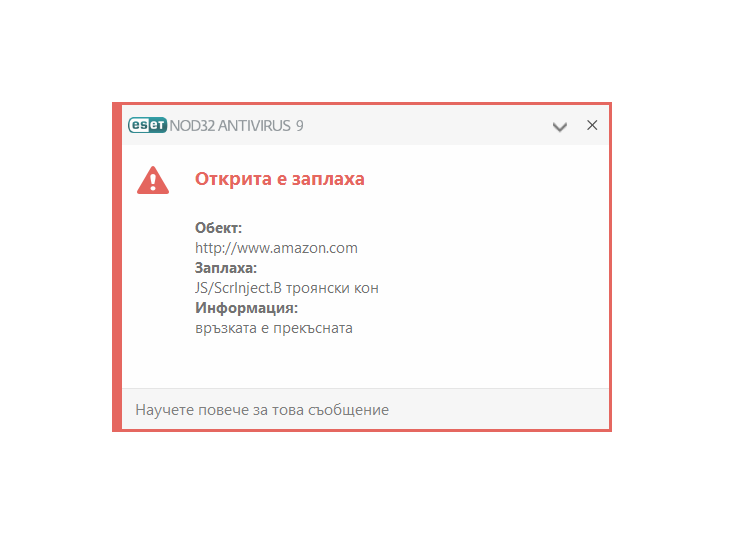 Грешка в NOD32 спря достъпа до милиони сайтове